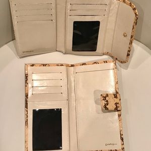 Danielle Nicole Bags - Danielle Nicole Snakeskin Leather Wallet Set